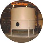 Upright silo.