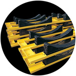 Coil Racks for the Steel Industry.