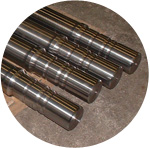 100 mm diameter by 1 mtr long shafts (in the cnc workshop) for the railway industry.