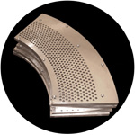 Ground perforated segments for the paper industry.