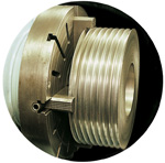 Large 500mm diameter pulley.