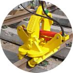 Rail handling grab, load capacity 1.5 tonnes