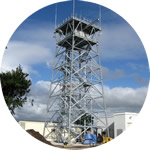 A 25 metre high Airport Radar Tower, fully fabricated