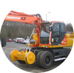 Doosan DX160 conversion.